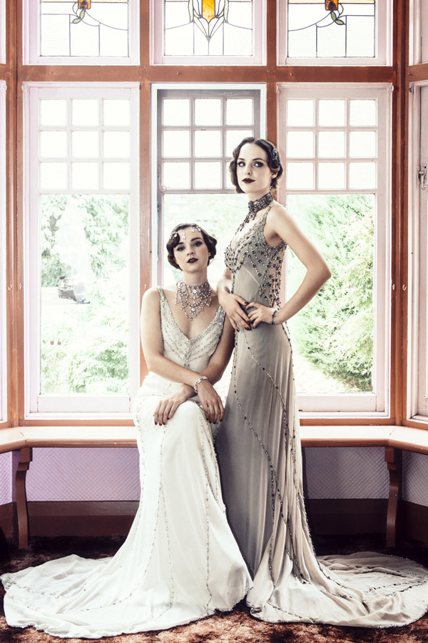 Friends of the Distinctive Dame - Gwendolynne Gowns bridal wear, accessories by Elysian Creations, hair and makeup by Dana Leviston and The Distinctive Dame, and photography by Phoebe Powell Photography.
